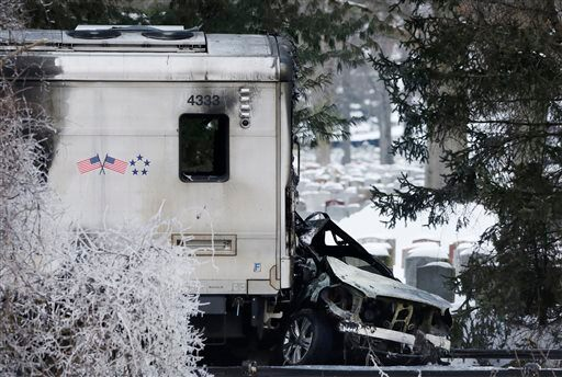 APTOPIX Train Car Collision