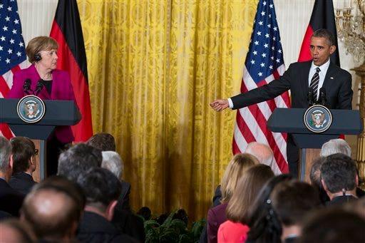 Barack Obama, Angela Merkel