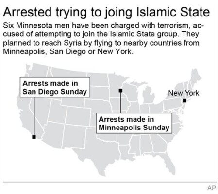 US ISLAMIC STATE ARRESTS