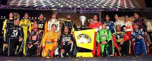 (Matt Sullivan/NASCAR via AP)