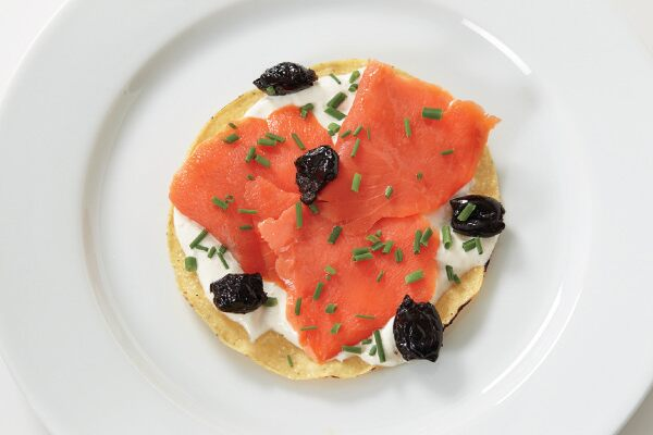 Salmon Tostadas Excerpted from JACQUES PEPIN HEART AND SOUL IN THE KITCHEN, © 2015 Reproduced by permission of Houghton Mifflin Harcourt. All rights reserved