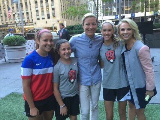 Abby Wambach & Kilmeades girls