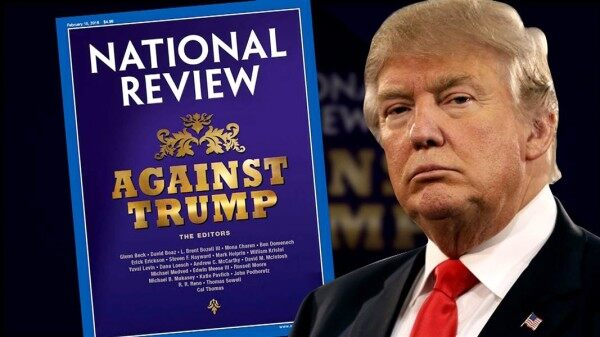 Image result for against trump national review cover