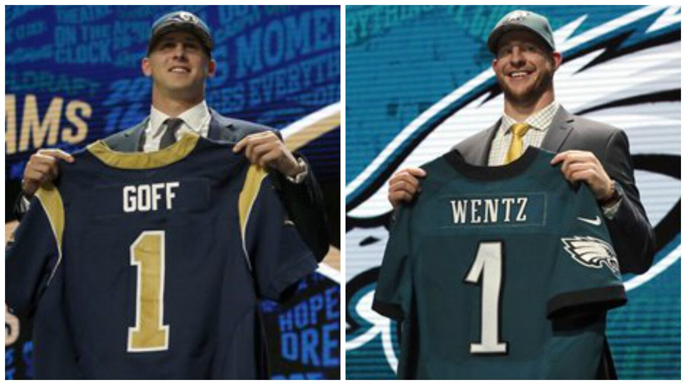 Carson Wentz >> QB's Jared Goff and Carson Wentz Selected 1-2 in NFL Draft ...