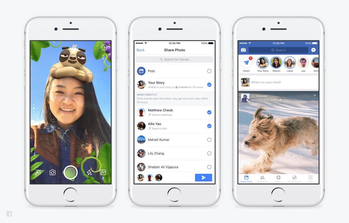 Facebook Mimics Snapchat (Again) with Latest Camera Feature